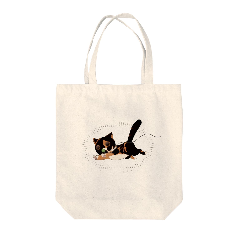 Marsh-mallowの迫真猫 Tote bags