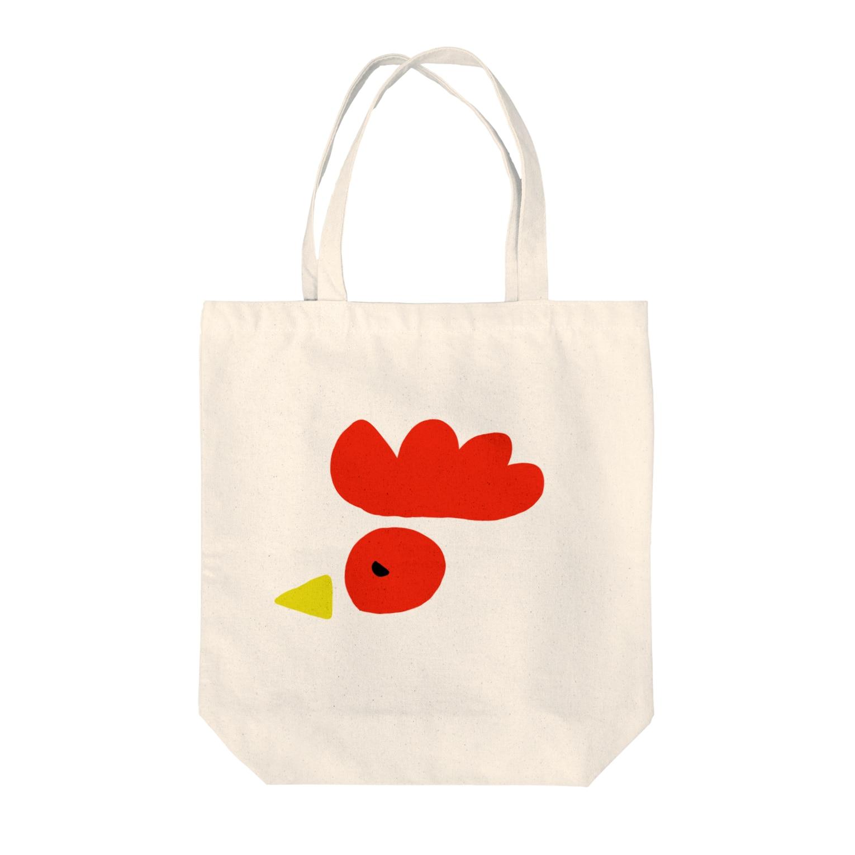 ゆるちょぼSHOPの庭にはニワトリ Tote bags