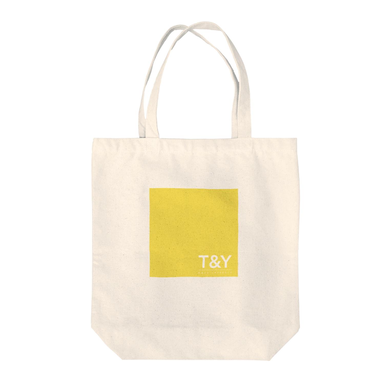Ploughのトートバッグ イエローロゴ Tote bags
