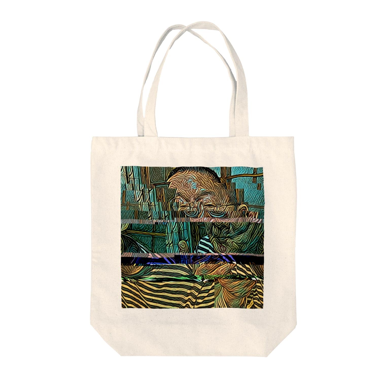 ikunojapanのpsychedelic Tote bags