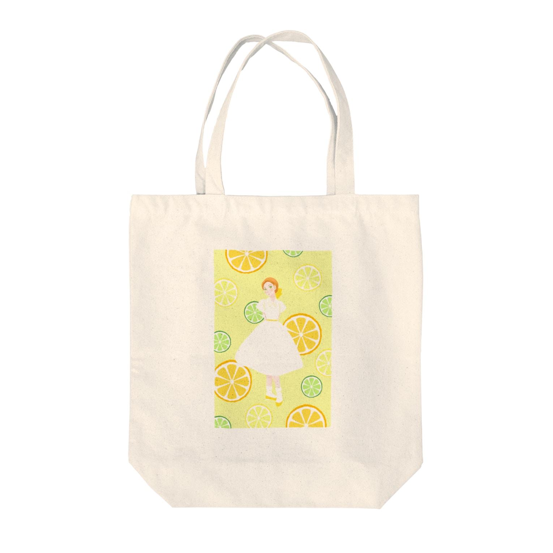 Pretty! showcase@SUZURI/まつもとめいこのハツコイソルベ Tote bags