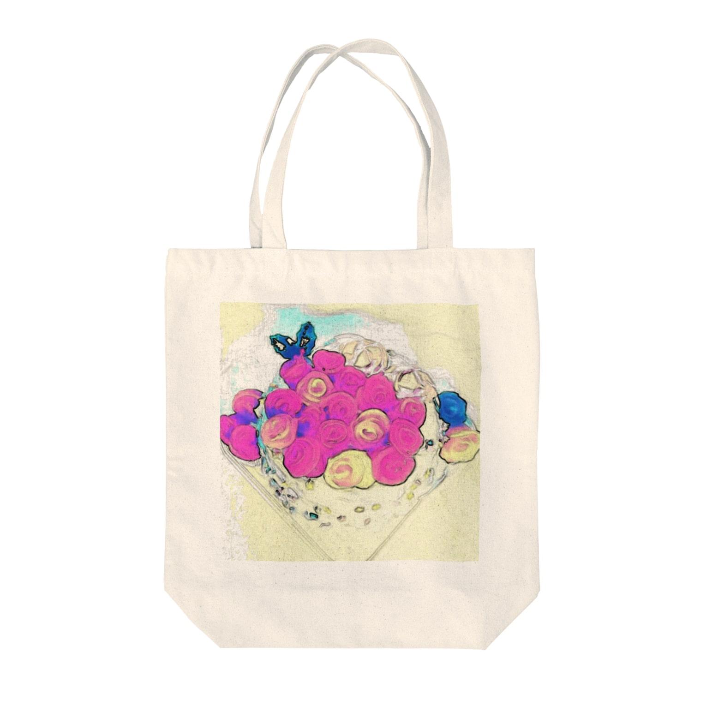 kokoperiの『ルミナスローゼ』 Tote bags