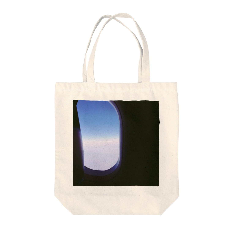 preppの飛行機の窓 Tote bags