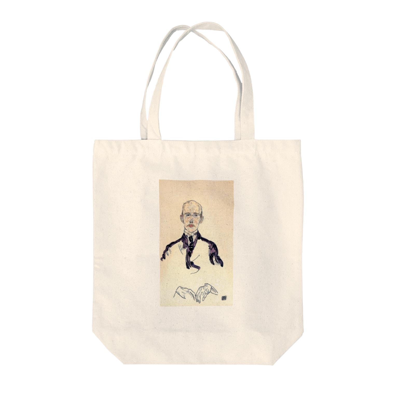 Art Baseのエゴン・シーレ / 1917 / Portrait of Karl Maylander / Egon Schiele Tote bags