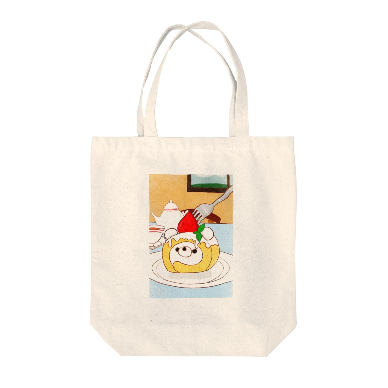 Myo's handmadeのいちごのくまロールと秘密のお茶会 Tote bags