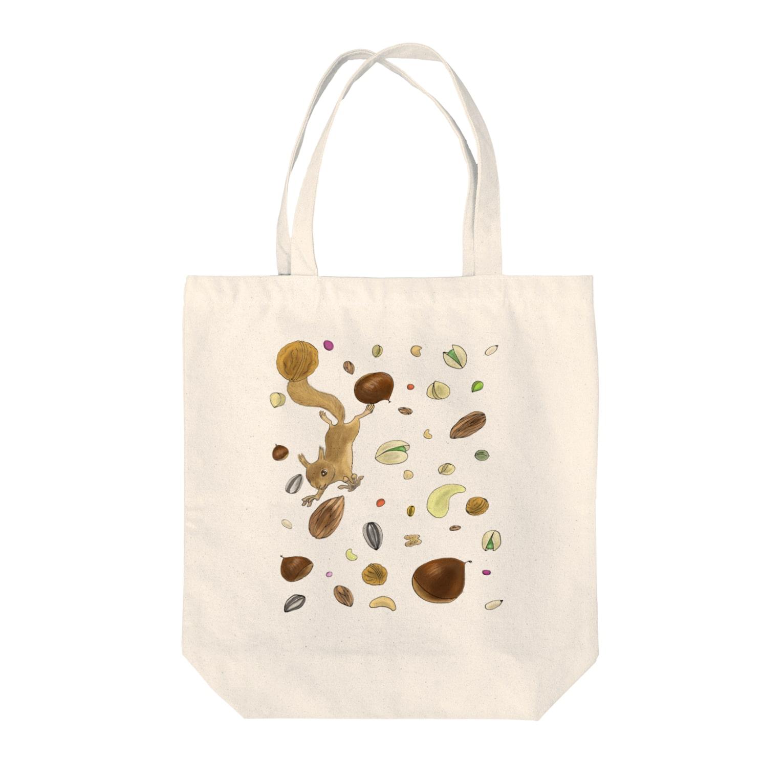 myrockのNuts Rain Tote bags