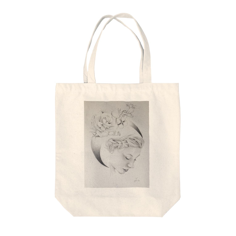 YukioのAbout love  Tote bags