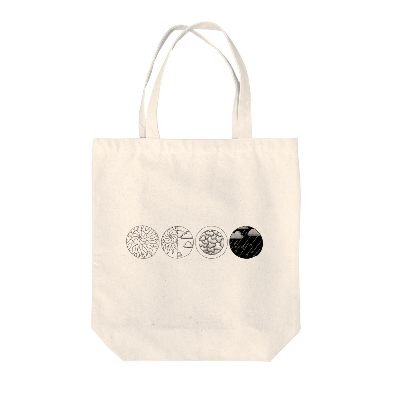 MOGU_RAの天気記号(晴天・晴れ・曇り・雨) Tote bags
