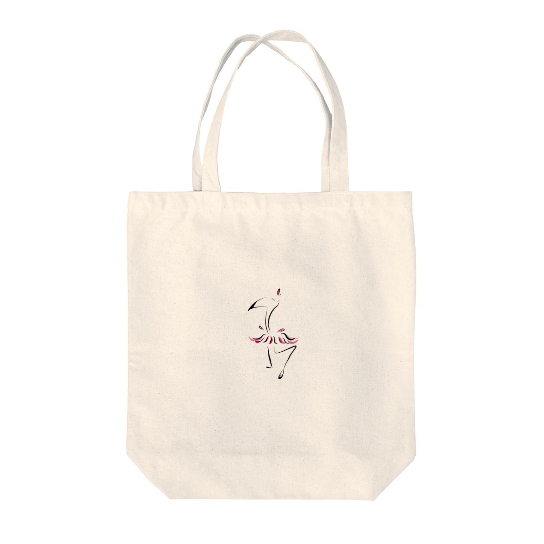 MOOの踊るフラミンゴ Tote bags