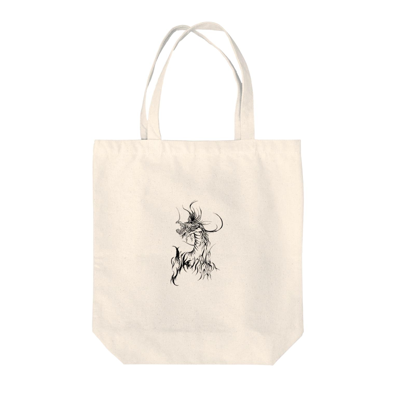 Hori shopのドラゴン Tote bags