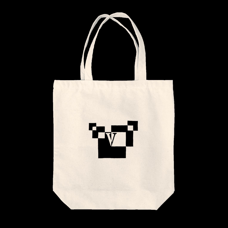 シンプルデザイン:Tシャツ・パーカー・スマートフォンケース・トートバッグ・マグカップのシンプルデザインアルファベットVトートバッグ