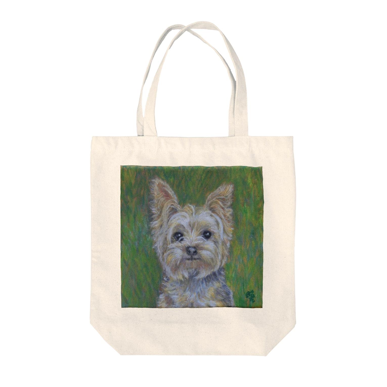 Akiyoのフィレンツェ画房 の犬・草原のヨークシャC1 Tote bags