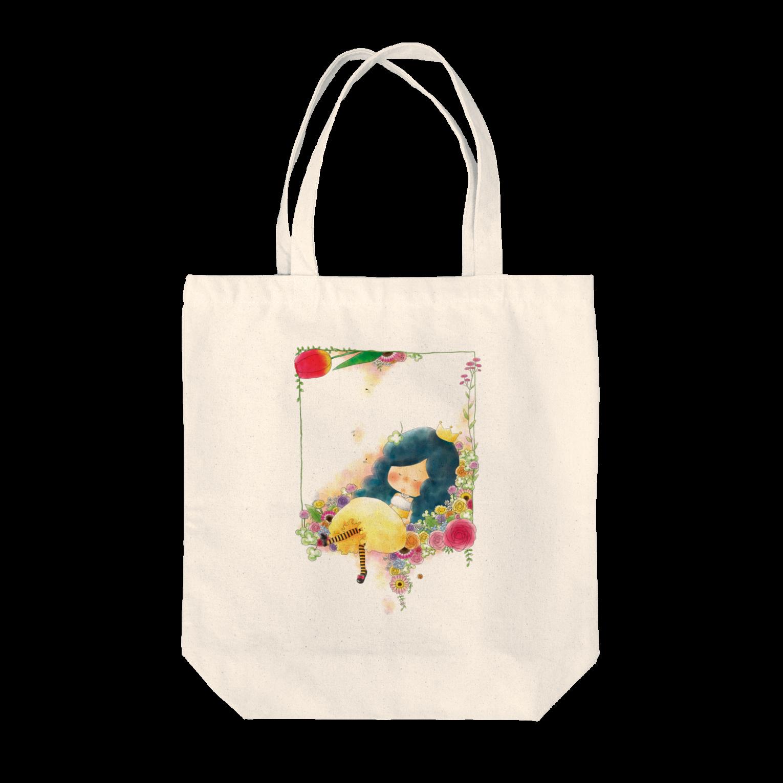 ちび子★キエの花籠トートバッグ