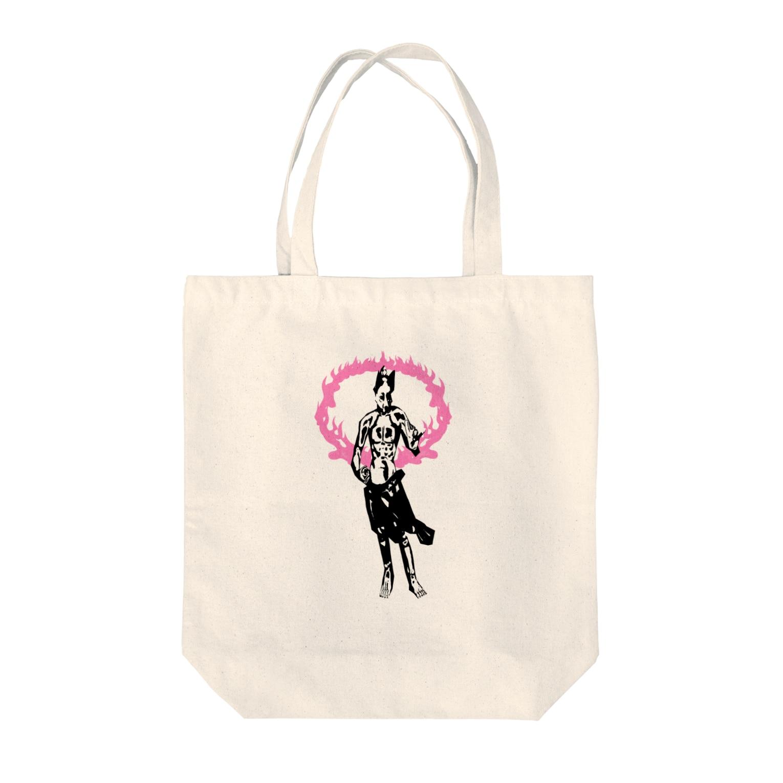 Danke Shoot Coffeeのコンコンコン金剛力士像 Tote bags