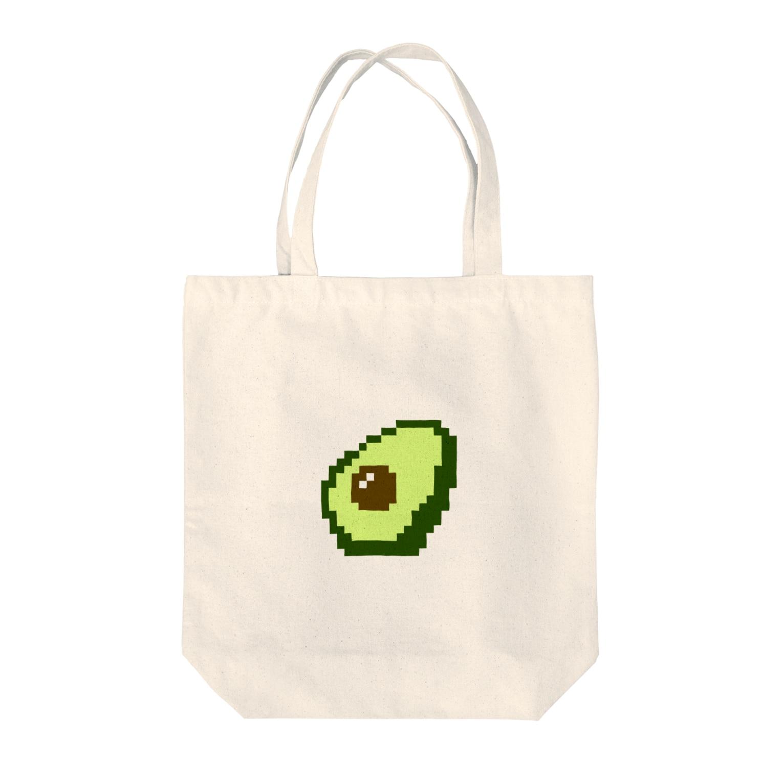mumilistのアボカドット Tote bags
