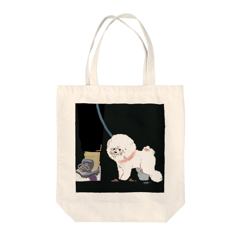 mmiyamotoの夜のビション Tote bags