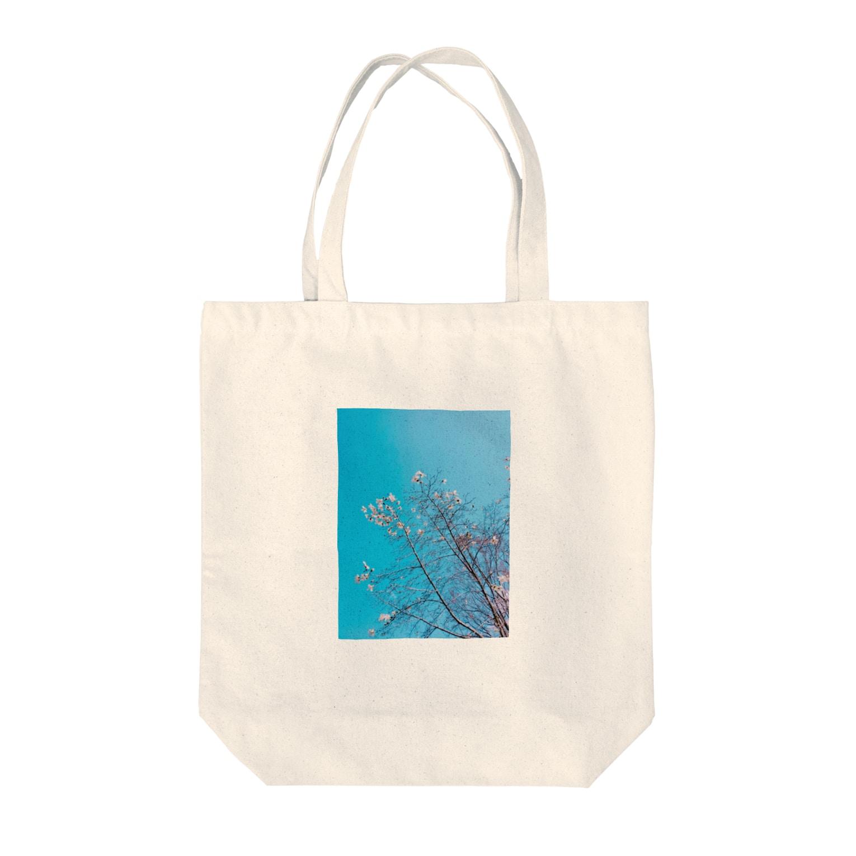 ねむいさかなのお店の花 Tote bags
