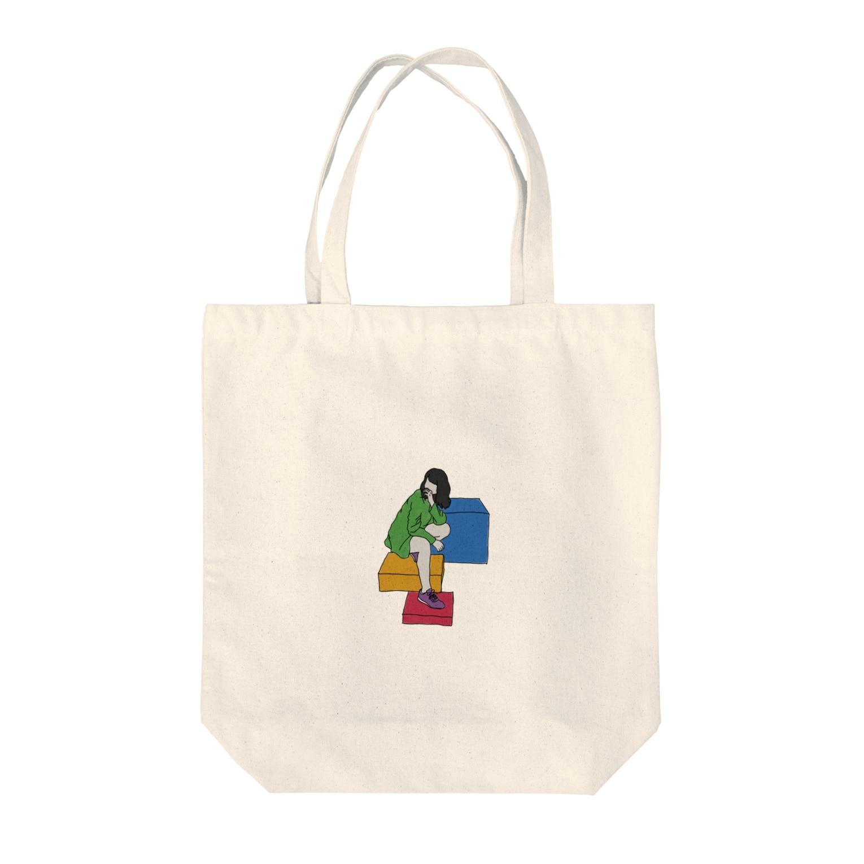 dolparchitectのカラフルナセカイ Tote bags