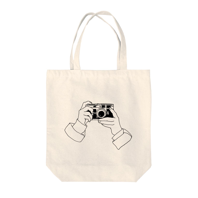 猫とアメジストのcamera Tote bags