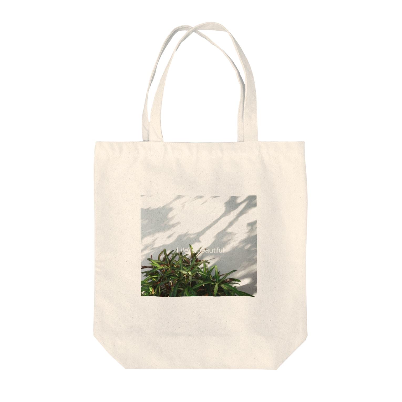 ipunigraphの植物と光と影 Tote bags