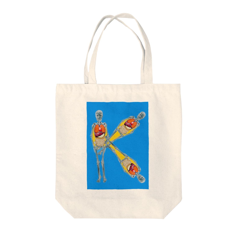 Yukinko Akira factoryのK Tote bags