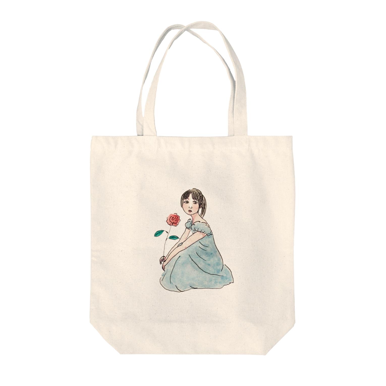 eno miyuのmaco Tote bags