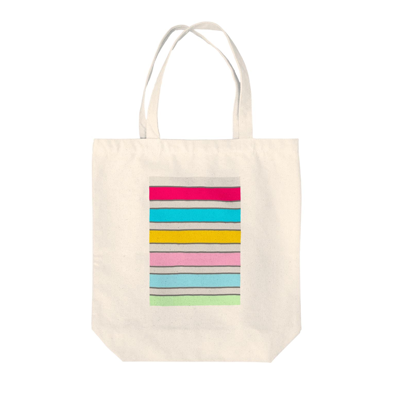 Sorapolice_pinopoliceのストライプ Tote bags