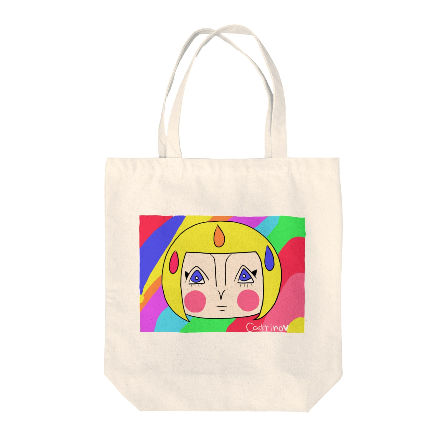 Cackrino🔻🔻🔻のCackrino Laugh Tote bags