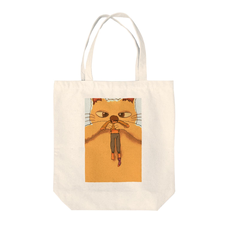 hsysckの猫と人間が逆 Tote bags