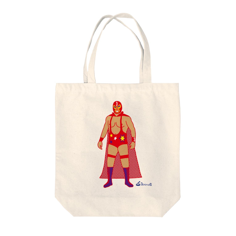 3pondSのRed Rucha Tote bags