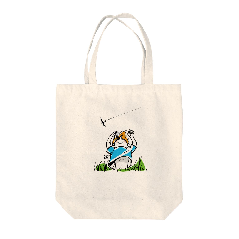 ウチダヒロコ online storeの夏の子 トートバッグ
