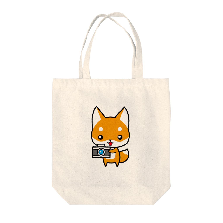 hide55のコンちゃん Tote bags