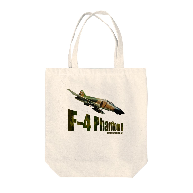 kazu Aviation ArtのF-4 ファントム II Tote bags