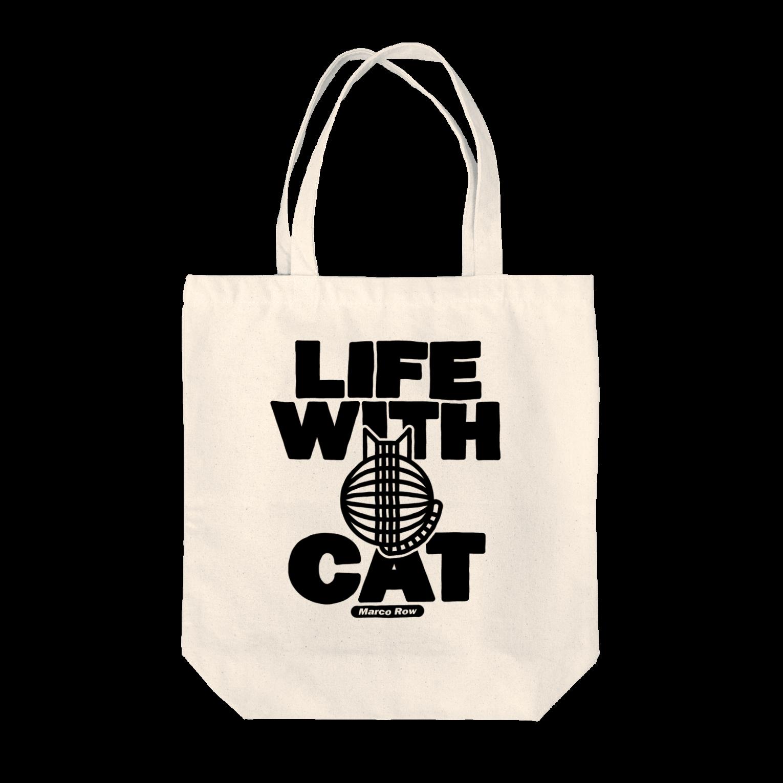 SHOP W SUZURI店のLIFE WITH a CAT トートバッグ トートバッグ