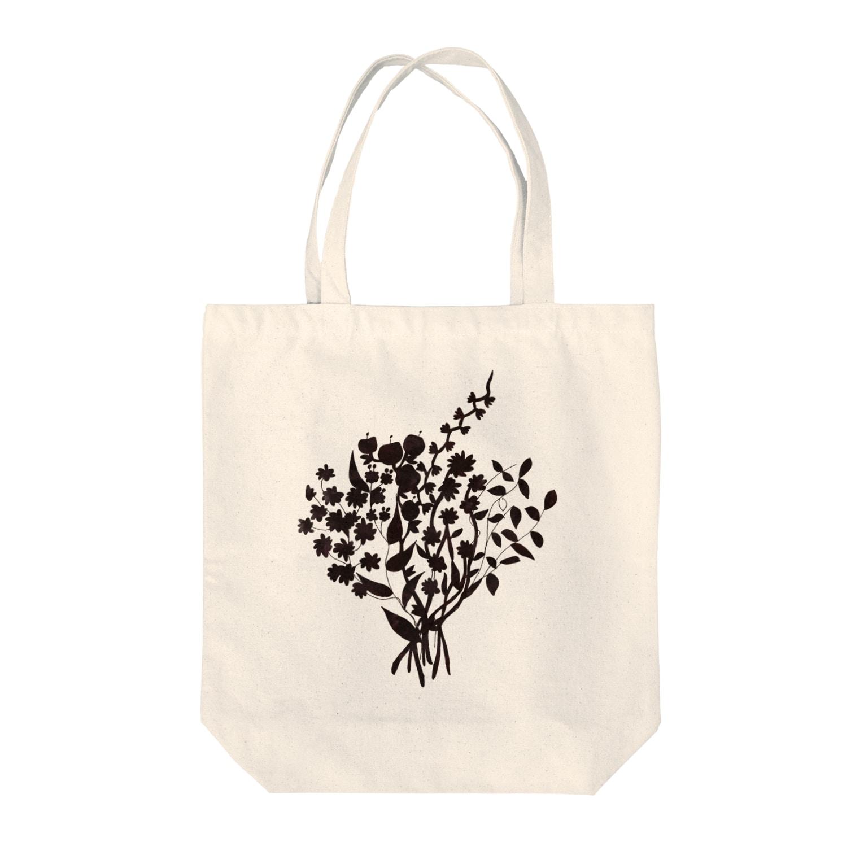 shirokumasaanの花 Tote bags