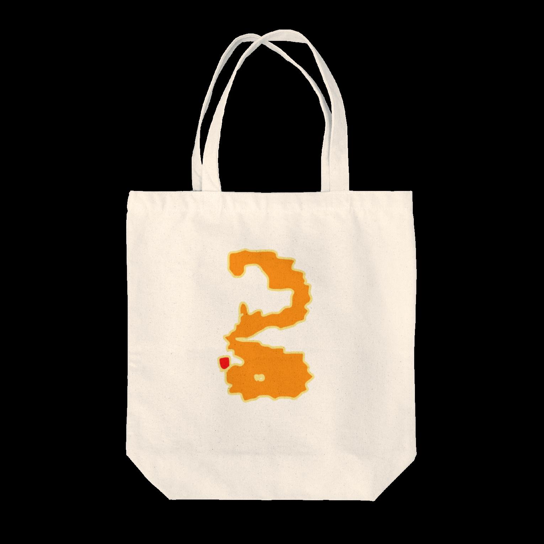 Luckyemeのオレンジノナニカナトートバッグ