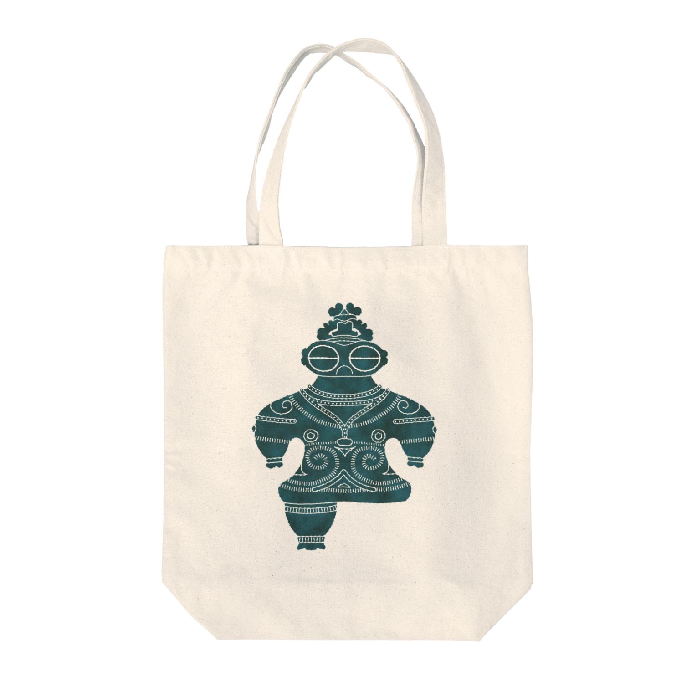 Second Wildlifeの遮光器土偶 Tote bags