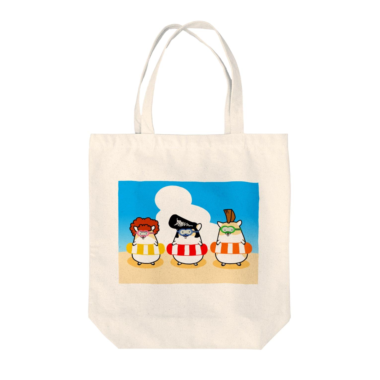 Piso Store on Suzuriの夏のヤンハム Tote bags