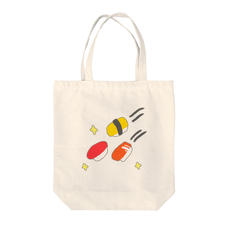 カニ巫女のお寿司の流れ星 トートバッグ