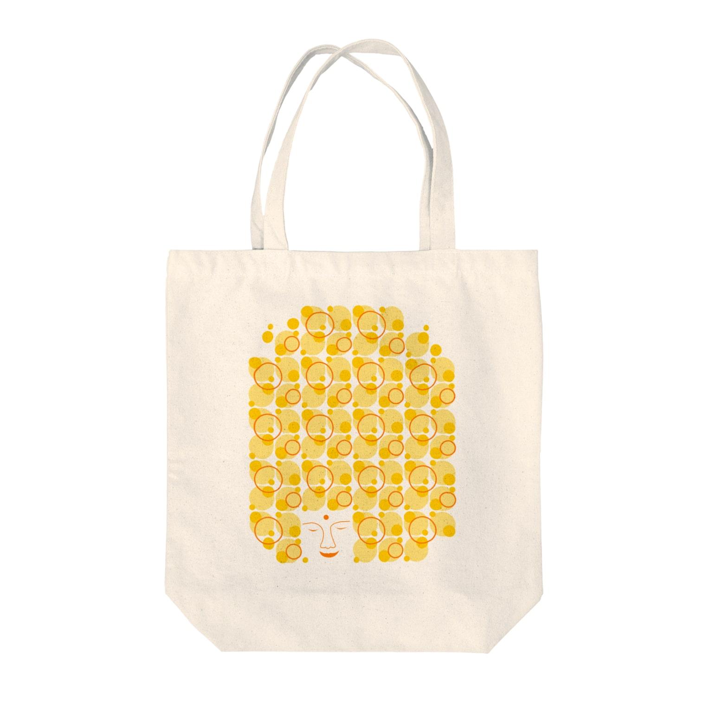 irodoruhanaの大仏(縦) Tote bags