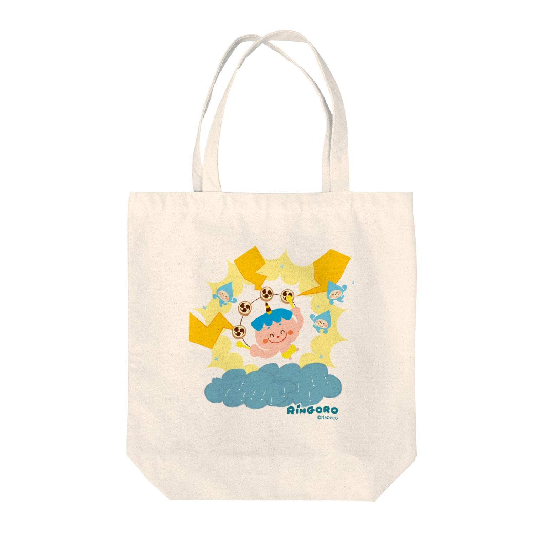 Nabecoのりんごろちゃん(雷のこ) Tote bags