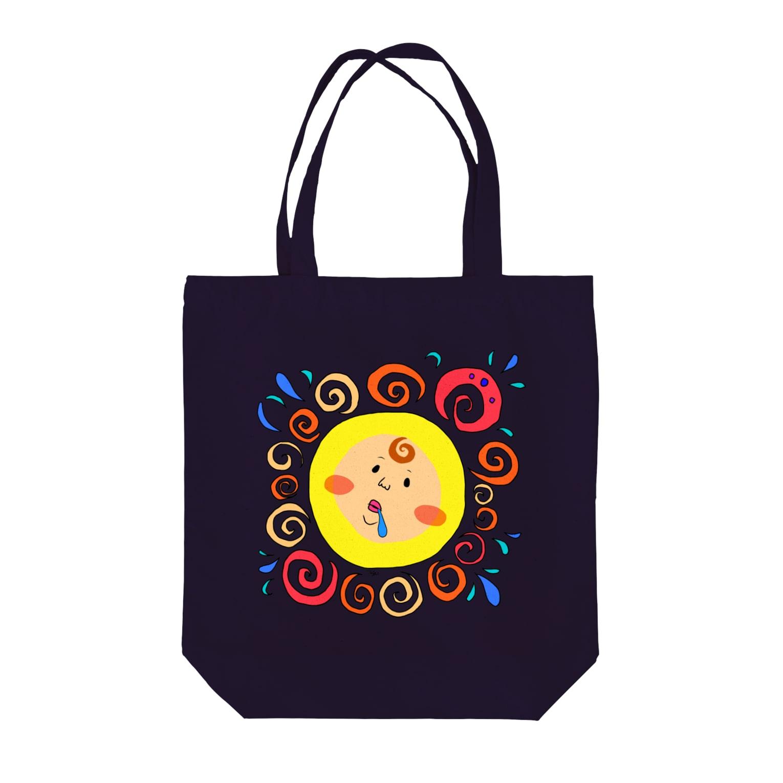 Miyuki_Sakagamiの太陽の子 Tote bags