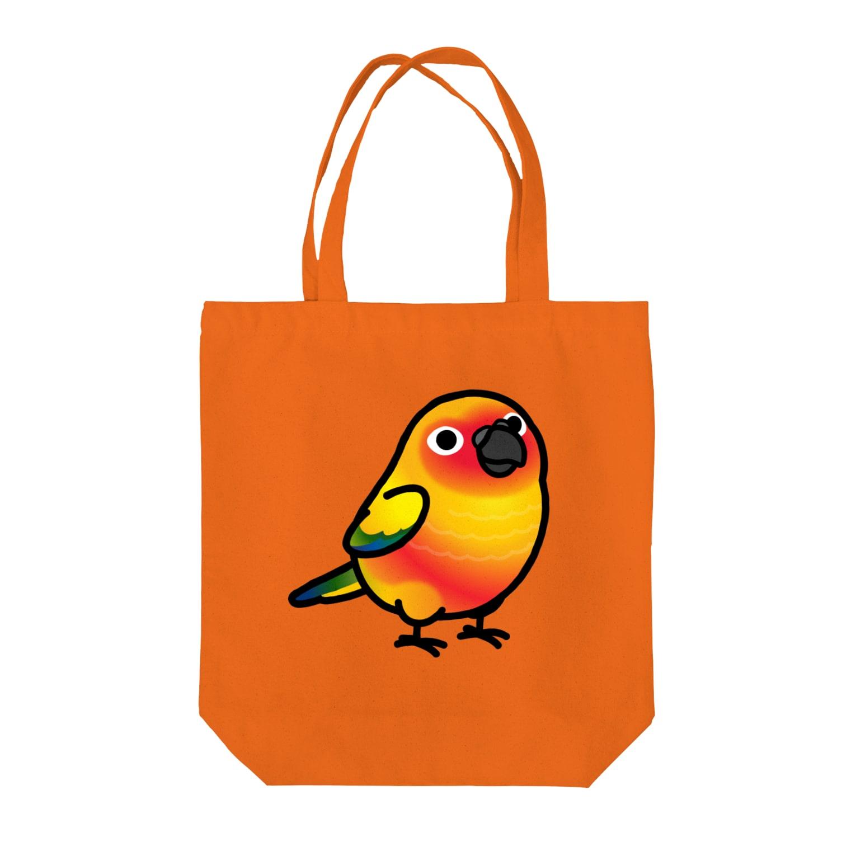 Cody the LovebirdのChubby Bird コガネメキシコインコ Tote bags