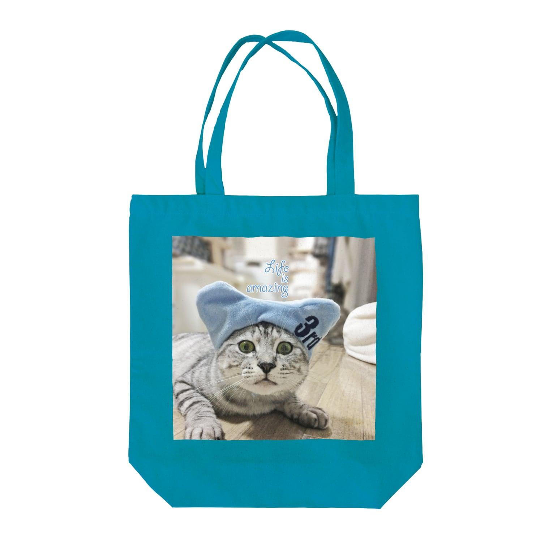 COMONOのお帽子ちゃん Tote bags