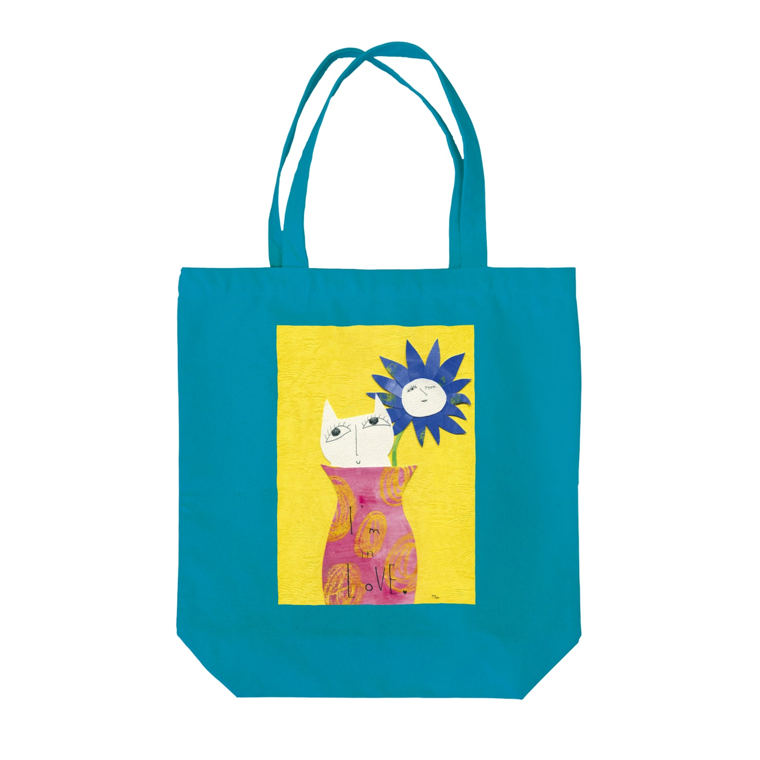 "A-nya.PoPo's Shopの""I'm in Love..."" Tote bags"