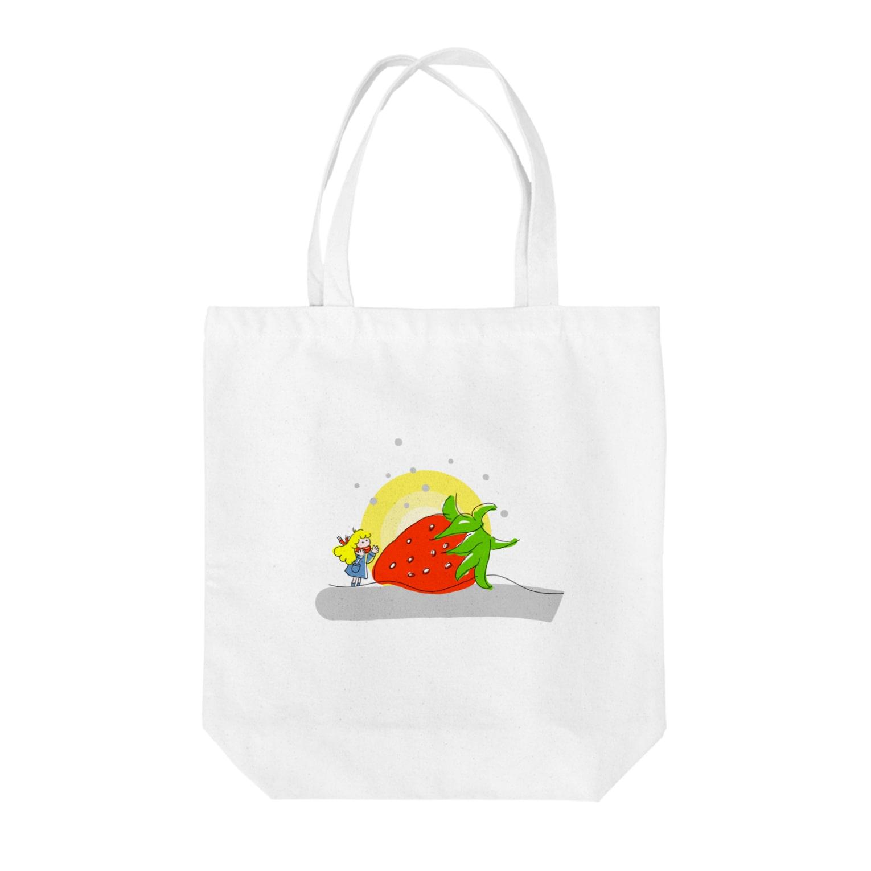 いろはの大きなイチゴと女の子 Tote bags