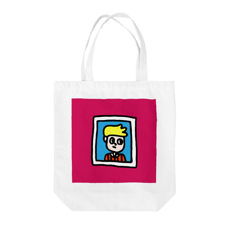 FUKUFUKU=:DESIGNのがくぶちぼーい Tote bags