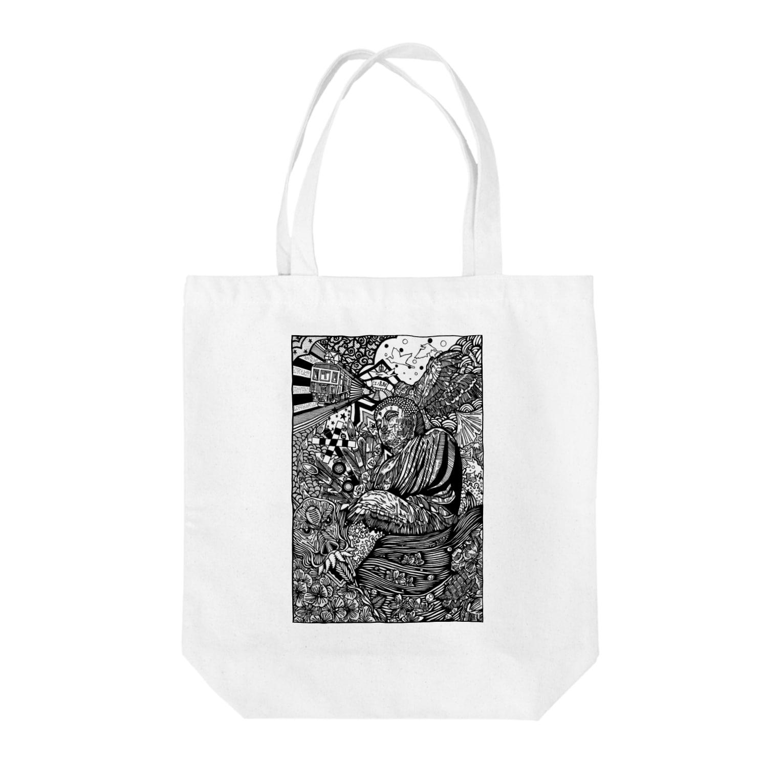 イトスク の鎌倉ワールド Tote bags