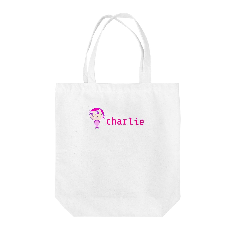 charlolのロゴcharlie Tote bags