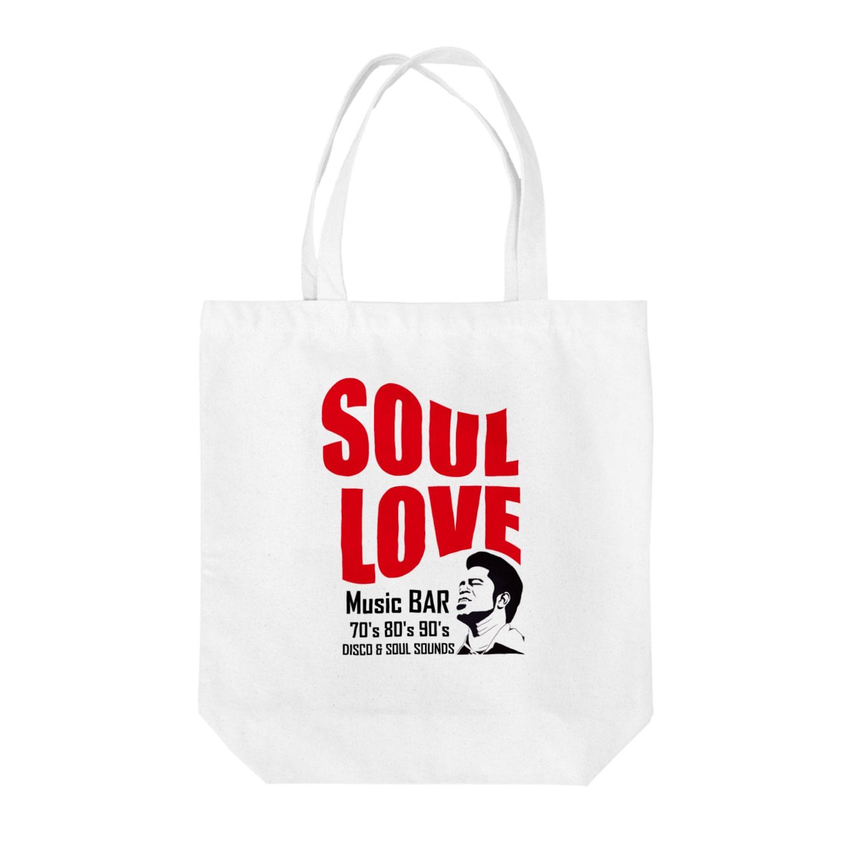 music bar SOUL LOVEのSOUL LOVE ロゴ Tote bags